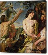 Meleager And Atalanta Canvas Print