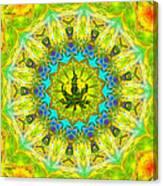 Mellow Yellow Mandala Canvas Print