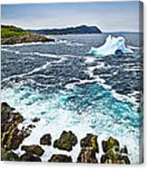 Melting Iceberg In Newfoundland Canvas Print