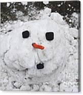 Melting Snowman Canvas Print