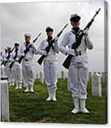 Members Of A Ceremonial Honor Guard Canvas Print