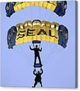 Members Of The U.s. Navy Parachute Canvas Print