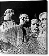 Men Working On Mt. Rushmore Canvas Print