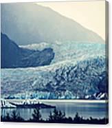 Mendenhall Glacier On A Foggy Morning Canvas Print