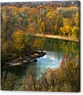 Meramec River Bend At Castlewood State Park Canvas Print