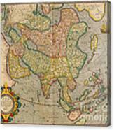Mercators Map Of Asia Canvas Print