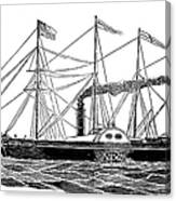 Merchant Steamship, 1838 Canvas Print