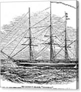 Merchant Steamship, 1844 Canvas Print