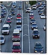 Merging Traffic Canvas Print
