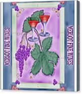 Merlot Fine Wines Orchard Box Label Canvas Print