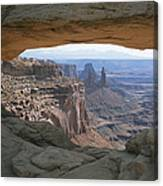 Mesa Arch In Utahs Canyonlands National Canvas Print
