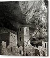 Mesa Verde - Monochrome Canvas Print