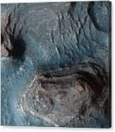 Mesas In The Nilosyrtis Mensae Region Canvas Print