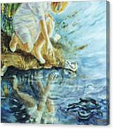 Message In The Water Canvas Print