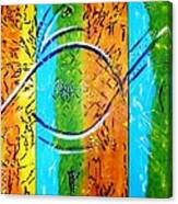 Message...eleven Pillars. Canvas Print