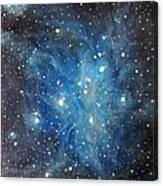 Messier 45 Pleiades Constellation Canvas Print