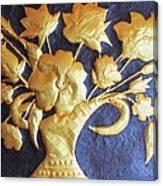 Metal Flowers Canvas Print