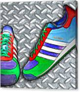 Metal Grate Sport Shoe Canvas Print