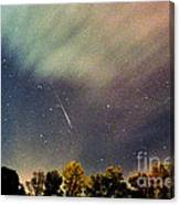 Meteor Perseid Meteor Shower Canvas Print