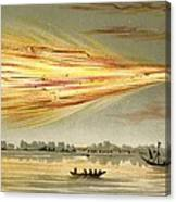Meteorite Explosion, Historical Artwork Canvas Print