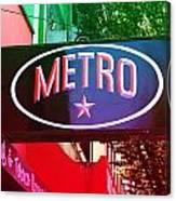 Metro Star Canvas Print