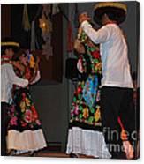 Mexican Folk Dancers 3 Canvas Print