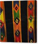 Mexican Throw Rug Colorful Canvas Print