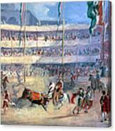 Mexico: Bullfight, 1833 Canvas Print