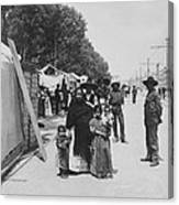 Mexico City - Alameda During Holy Week - C 1906 Canvas Print