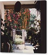 Mexico Garden Patio By Tom Ray Canvas Print