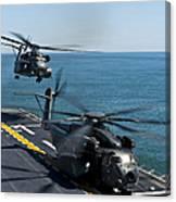 Mh-53e Sea Dragon Helicopters Take Canvas Print