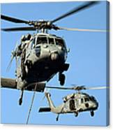 Mh-60s Sea Hawk Helicopters In Flight Canvas Print