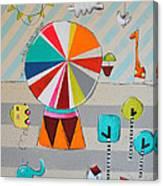 Mi Vida Es Un Circo No.1 Canvas Print