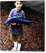 Michael And The Blue Macaw Canvas Print