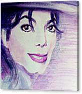 Michael Jackson - Purple Fedora Canvas Print