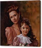 Michaela And Alexandra Canvas Print
