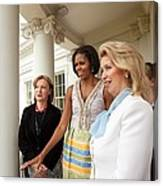 Michelle Obama Hosts First Lady Canvas Print