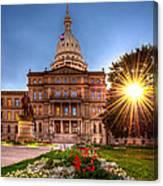 Michigan Capitol - Hdr - 2 Canvas Print