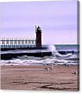 Michigan City Lighthouse Indiana Canvas Print