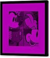 Mickey In Purple Canvas Print
