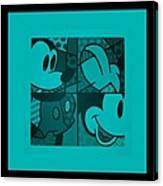 Mickey In Turquois Canvas Print