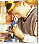 Microscope Use Canvas Print