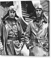 Mid-air Refueling Aviators At Rockwell Canvas Print