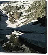 Middle Palisade Peak Reflects In Finger Canvas Print