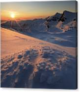 Midnight Sun Above Lilletinden Canvas Print