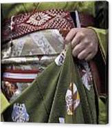 Midsection Of Apprentice Geisha - Maiko Canvas Print