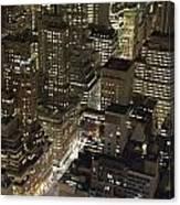 Midtown Manhattan Illuminated At Night Canvas Print