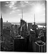 Midtown Skyline Infrared Canvas Print