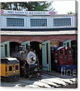 Mike Watson St. Turnhouse - Traintown Sonoma California - 5d19249 Canvas Print