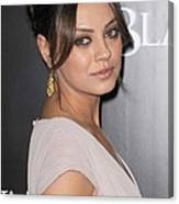 Mila Kunis At Arrivals For Black Swan Canvas Print